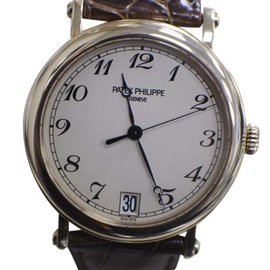 Patek Philippe 5053 J Calatrava 18K Yellow Gold / Leather 37mm Mens Watch