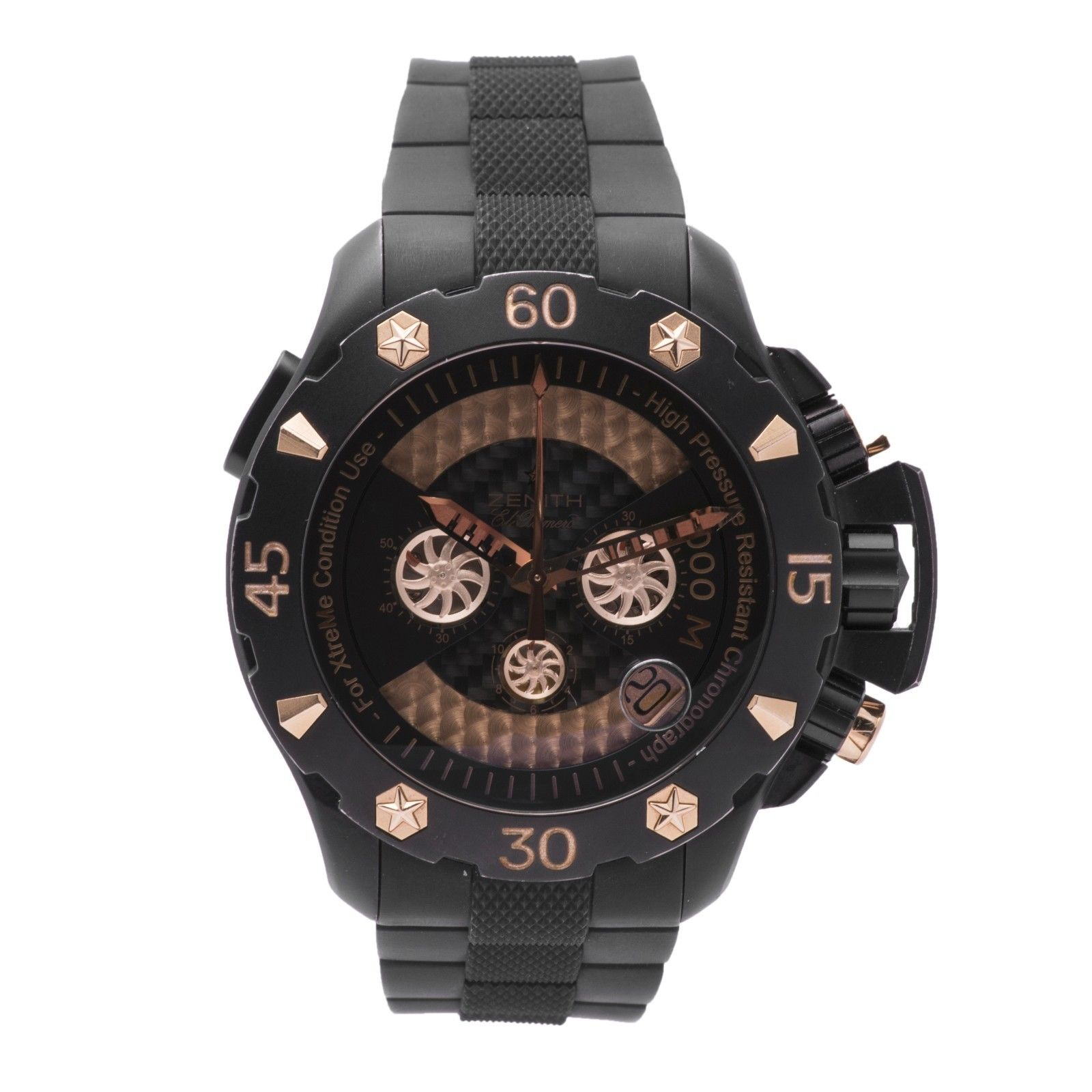 "Image of ""Zeinth Defy Extreme 96.0528.4000 Titanium/Rose Gold & Rubber Automatic"""