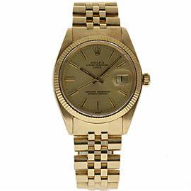 Rolex Date 1503 Yellow Gold Vintage 34mm Unisex Watch
