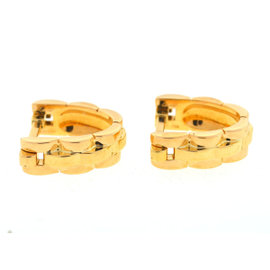 Cartier 18K Yellow Gold Panthere Stirrup Cufflinks