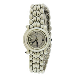 Chopard Happy Sport 27/8250 Stainless Steel White Dial wDiamond Quartz 26mm Womens Watch