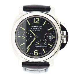 Panerai Luminor PAM90 Stainless Steel Black Dial Automatic 44mm Mens Watch