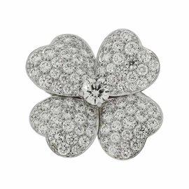 Van Cleef & Arpels Cosmos 18K White Gold 3.25ct. Diamond Ring Size 7.25