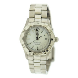 Tag Heuer Aquaracer WAF1414 Stainless Steel Mother Of Pearl Dial Automatic 28mm Womens Watch