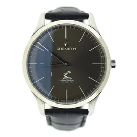 Zenith Elite Ultra Thin 03.2017.681 Stainless Steel & Leather Automatic 40mm Mens Watch