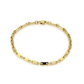 Cartier Long Bar Flat 18K Yellow Gold Link Bracelet