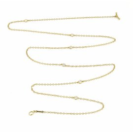 Tiffany & Co. Peretti By The Yard 18K Yellow Gold Diamond Toggle Necklace