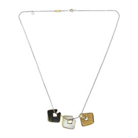 Van Cleef & Arpels 18K Yellow Gold Diamond, Onyx & Mother of Pearl Necklace