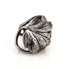Buccellati Mario Sterling Silver Oak Leaf & Vine Ring Size 7