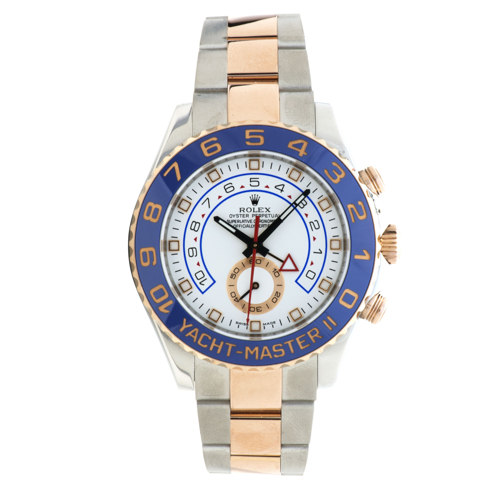 """Image of """"Rolex Yacht-master II 116681 Stainless Steel / 18K Rose Gold 44mm Mens"""""""