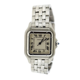 Cartier Panthere 1310 Stainless Steel White Dial Quartz 27mm Womens Watch
