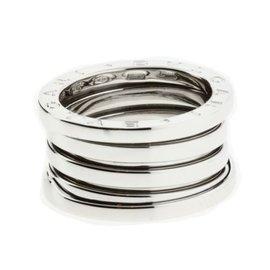 Bulgari 18K White Gold B-Zero1 5 Band Ring Size 5.75