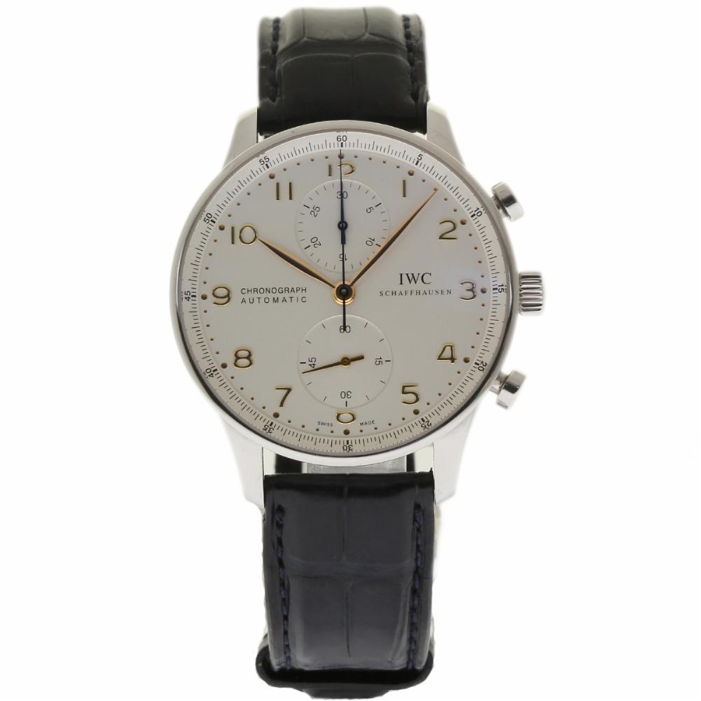 "Image of ""IWC Portuguese Iw371445 Stainless Steel & Leather Automatic 40.9mm"""