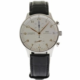 IWC Portuguese IW371445 Stainless Steel & Leather Automatic 40.9mm Mens Watch