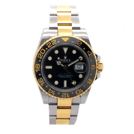 Rolex GMT Master II 116713 18K Yellow Gold and Stainless Steel Mens Watch
