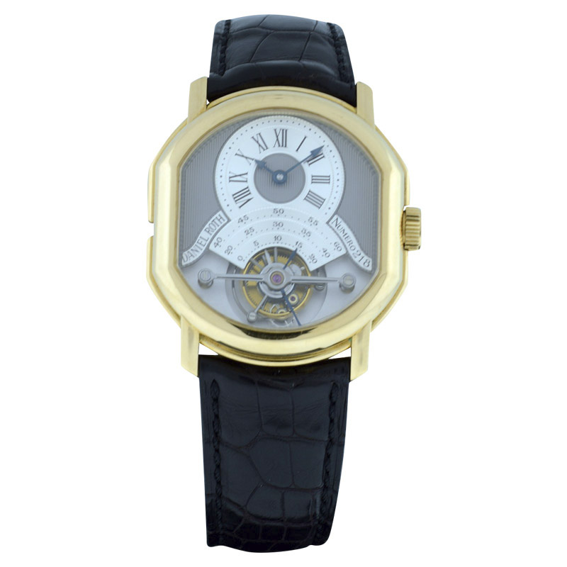 "Image of ""Daniel Roth 18K Yellow Gold & Leather Manual 40mm Mens Watch"""