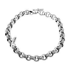 David Yurman 925 Sterling Silver Round Link Chain Necklace