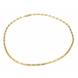 Cartier 18K Yellow Gold Fidelity Flat Oval Link Necklace