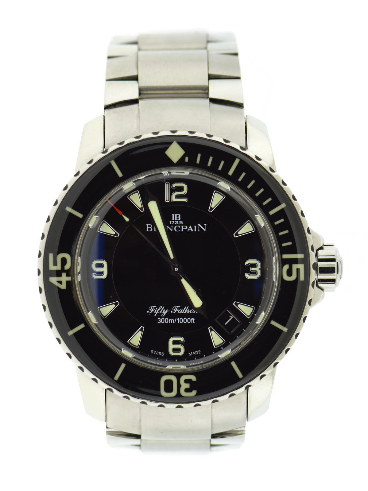 "Image of ""Blancpain Fifty Fathoms Sport 5015 Stainless Steel Automatic 45mm Mens"""