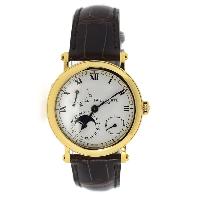 Patek Philippe 5054J 18K Yellow Gold & Leather Automatic 36mm Mens