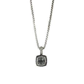 David Yurman Petite Albion 925 Sterling Silver with Prasiolite and Diamond Necklace