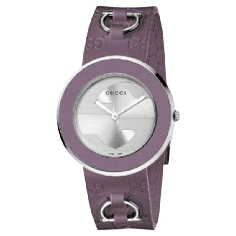 "Image of ""Gucci U-Play Ya129402 Stainless Steel 35mm Womens Watch"""