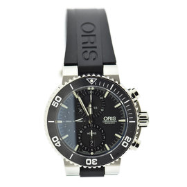 Oris Aquis Chronograph 7655 Stainless Steel & Rubber Automatic 46mm Mens Watch