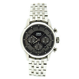 Oris Artelier Chronograph 7603 Stainless Steel Automatic 43.5mm Mens Watch