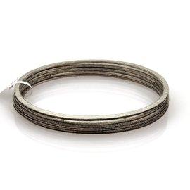 Gurhan Vertex Sterling Silver Hammered Set of 5 Bangle Bracelet