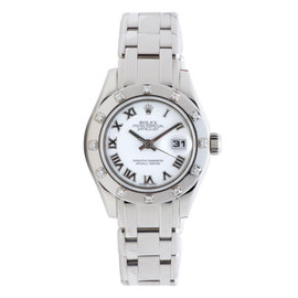 Rolex Pearlmaster 80319 18K White Gold 29mm Womens Watch