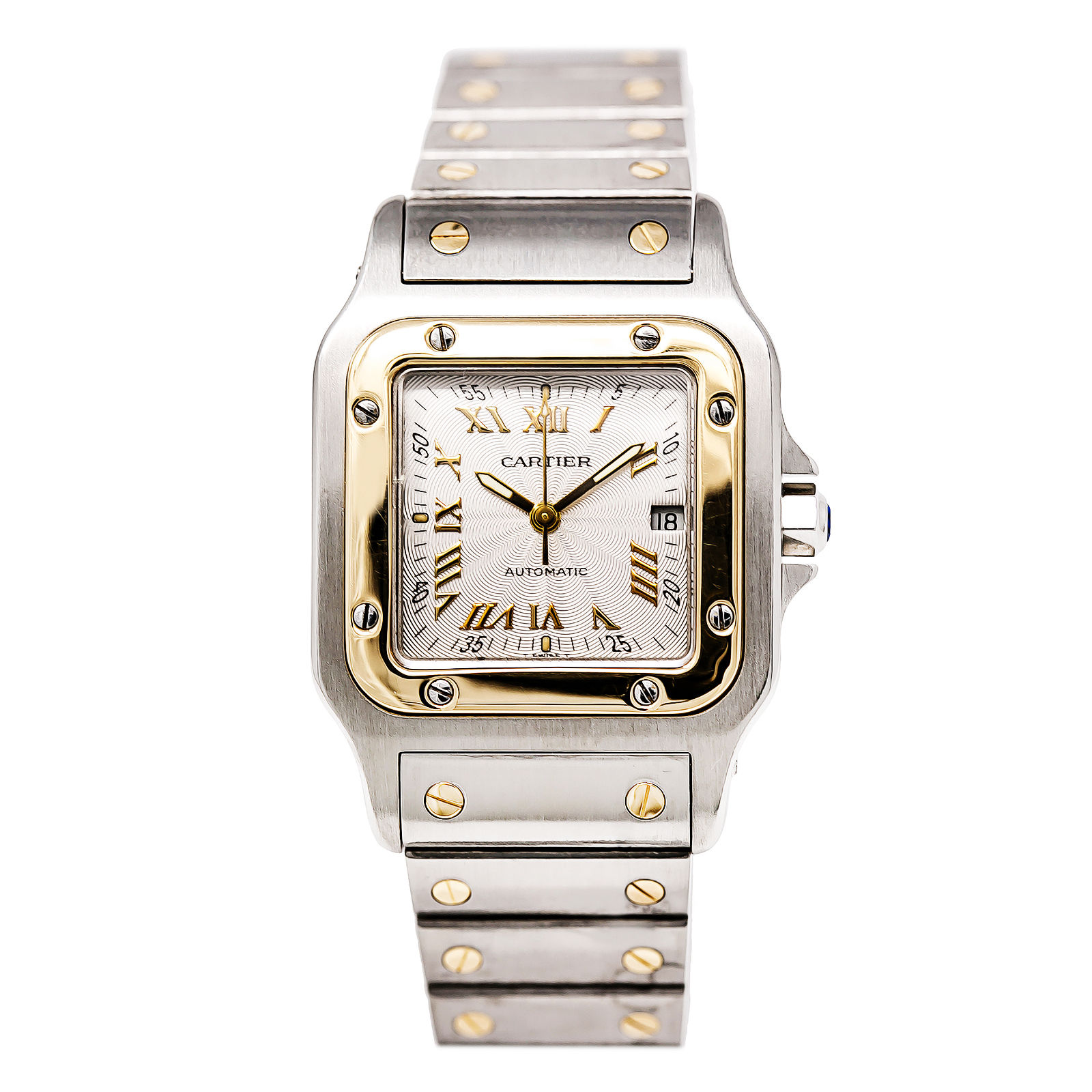 """Image of """"Cartier Santos W20058C4 18K Yellow Gold & Stainless Steel Silver Dial"""""""