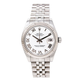 Rolex Datejust 178274 18K White Gold / Stainless Steel 30mm Womens Watch