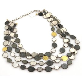 Gurhan 925 Sterling Silver & 24K Yellow Gold Multi-Strand Necklace