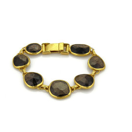 Gurhan 24K Yellow Gold 68.20ct Brown Sapphire Bracelet