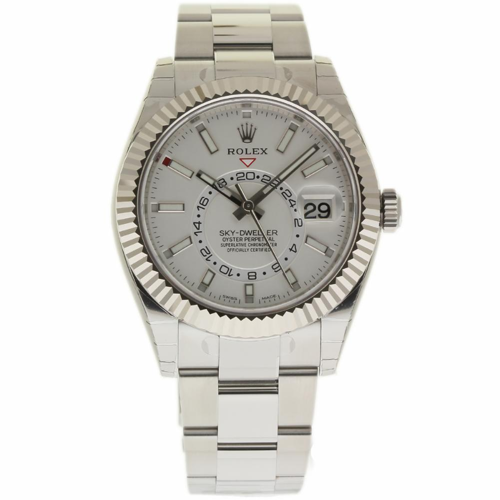 "Image of ""Rolex Sky-Dweller 326934 Stainless Steel White Dial Automatic 42mm"""