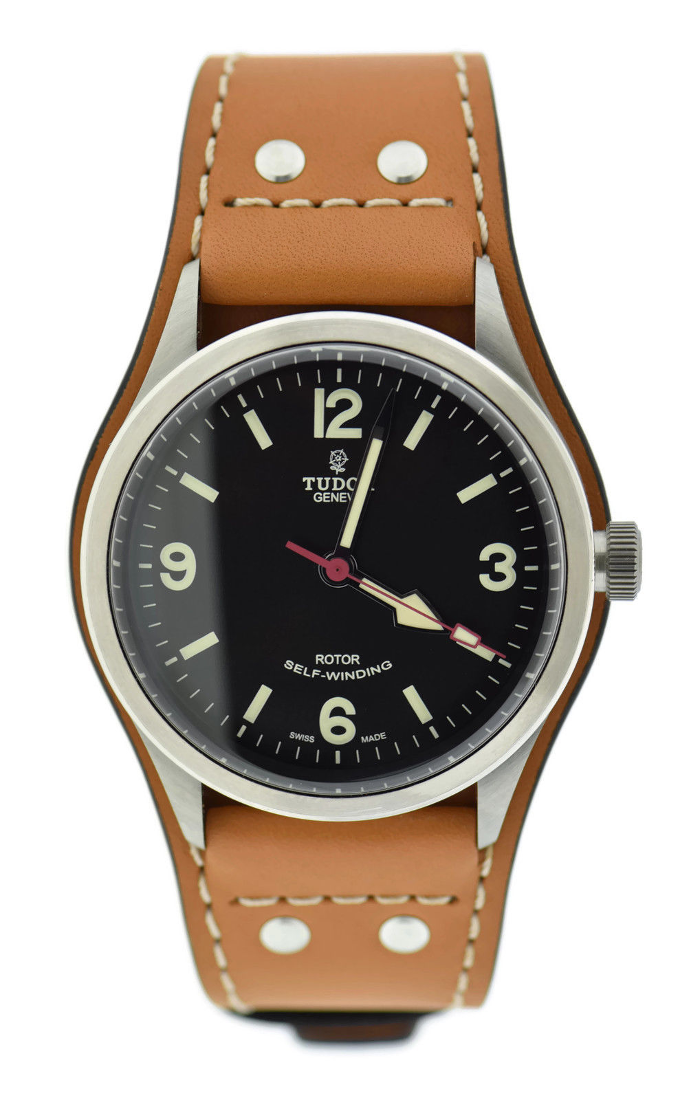 "Image of ""Tudor Heritage Ranger 79910 Stainless Steel & Leather Automatic 41mm"""