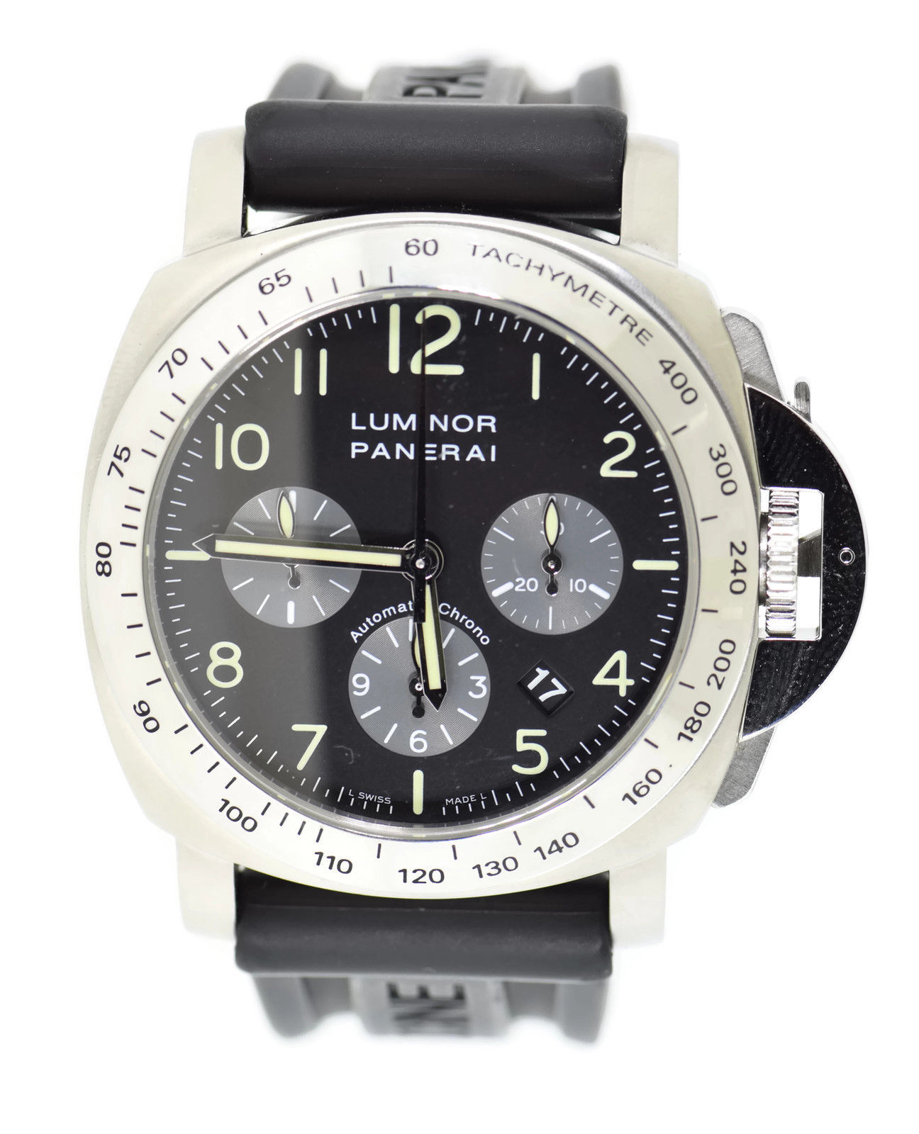 "Image of ""Panerai Luminor Pam162 Stainless Steel & Rubber Automatic 44mm Mens"""