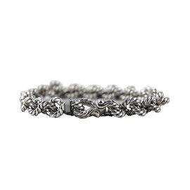 David Yurman 925 Sterling Silver Buck Twist Cable Chain Bracelet