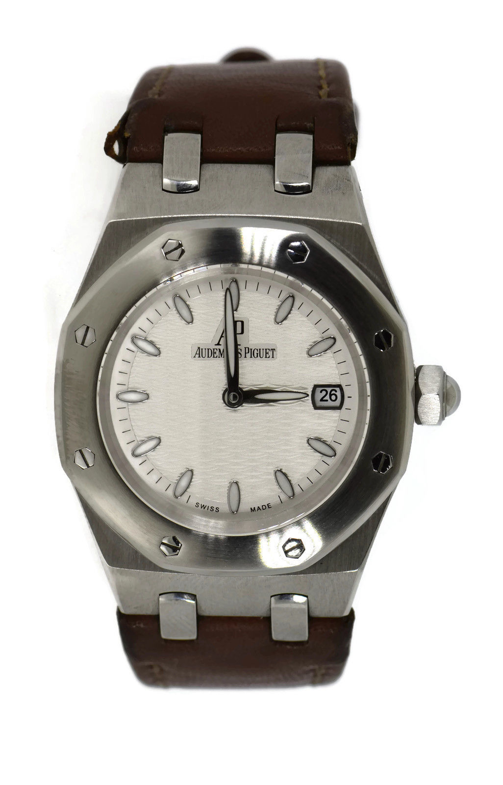 "Image of ""Aduemars Piguet Royal Oak 67600St Stainless Steel & Leather Quartz"""