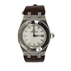 Aduemars Piguet Royal Oak 67600ST Stainless Steel & Leather Quartz 33mm Womens Watch