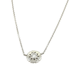 Tiffany & Co. Paloma Picasso 18K White Gold 0.10ct. Diamond Pendant Necklace
