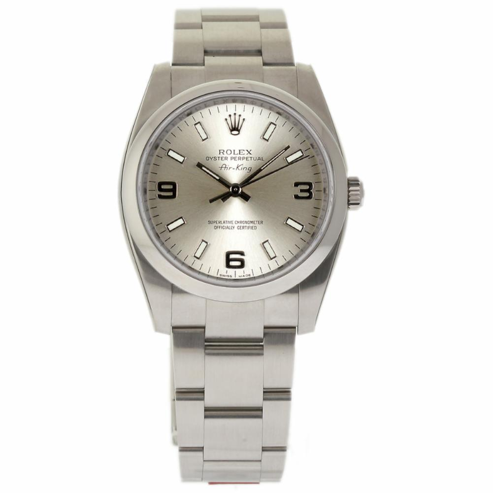 """Image of """"Rolex Air-King 114200 Stainless Steel Silver Dial Automatic 34mm Mens"""""""