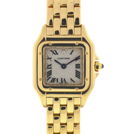 Cartier Panthere 18K Yellow Gold Love Heart Dial Quartz 21mm Womens Watch