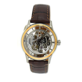 Oris Artelier 7684 Translucent Skeleton Two Tone Stainless Steel 40.5mm Watch