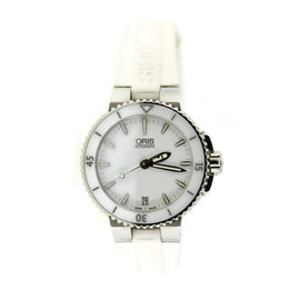 Oris Aquis 7652 White Stainless Steel 36mm Womens Watch