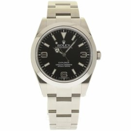 Rolex Explorer 214270 Stainless Steel Black Dial Automatic 39mm Mens Watch