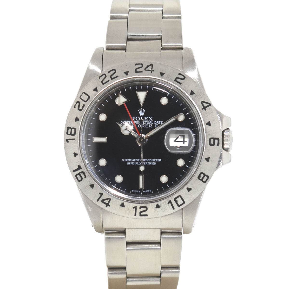 "Image of ""Rolex Explorer II 16550 Stainless Steel Black Dial Automatic 40mm Mens"""