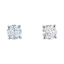 Tiffany & Co. Platinum with 2.14ct Solitaire Diamond Studs Earrings