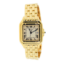 Cartier Panthere W25014B9 18K Yellow Gold Quartz 28mm Unisex Watch