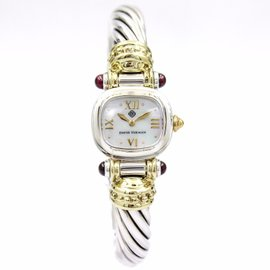 David Yurman Cable Classic T-20585 Sterling Silver and 14K Yellow Gold Cable Classic Quartz Womens Watch